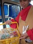 Verkauf bunter Nachspeisen in der Hauptstadt La Paz