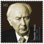 Theodor Heuss als Briefmarke (Foto: Wikipedia)