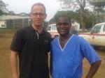 Bruder Lothar und Dr. Capt. Komba Songu-M'Briwa, ehrenamtlicher Unterstützer